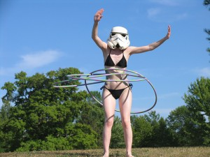 Bikini stormtrooper with hulahoop